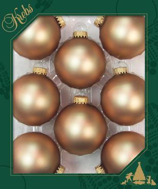 Christbaumkugeln Cappuccino.Weihnachtskugeln Satin Cappuccino 6 7cm